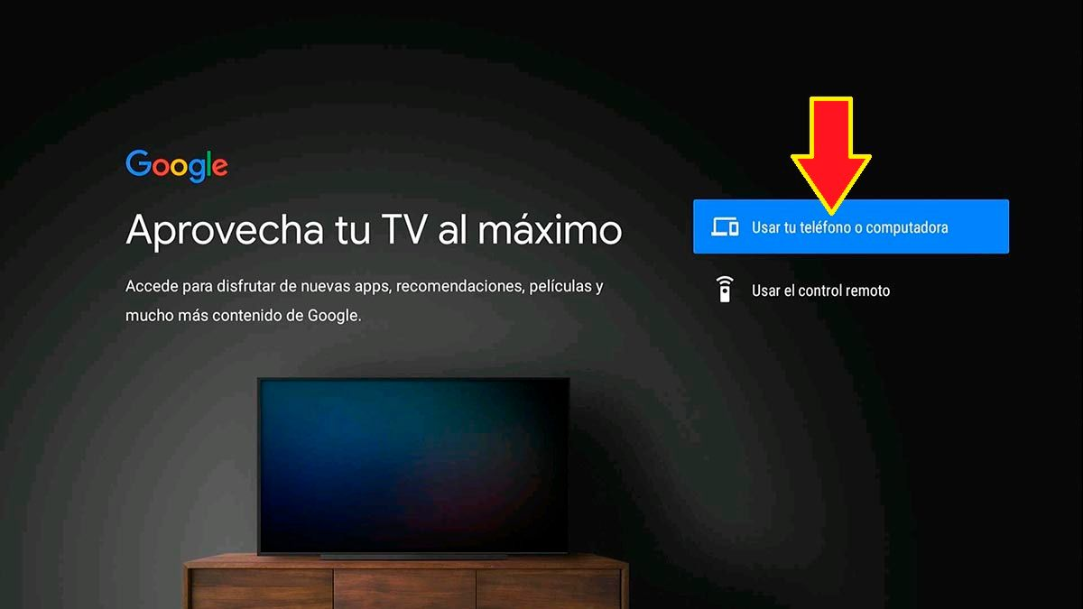 Usar movil o PC Android TV