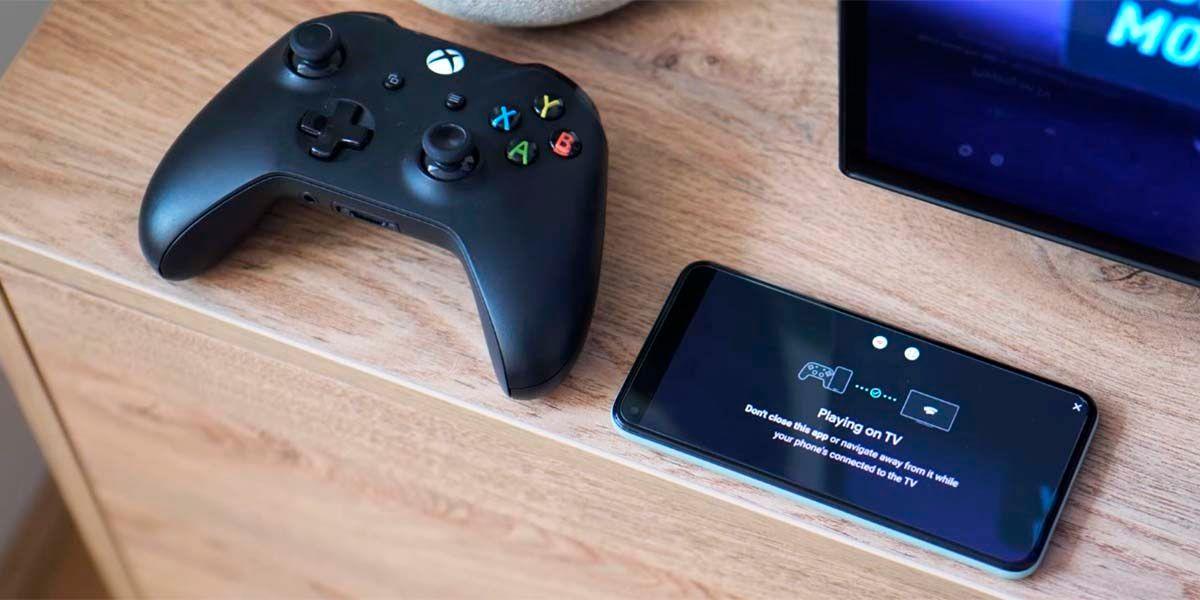 Usar móvil puente mando Bluetooth Stadia Chromecast Ultra