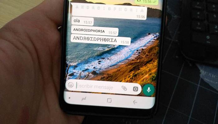 Usar otro tipo de letra en WhatsApp