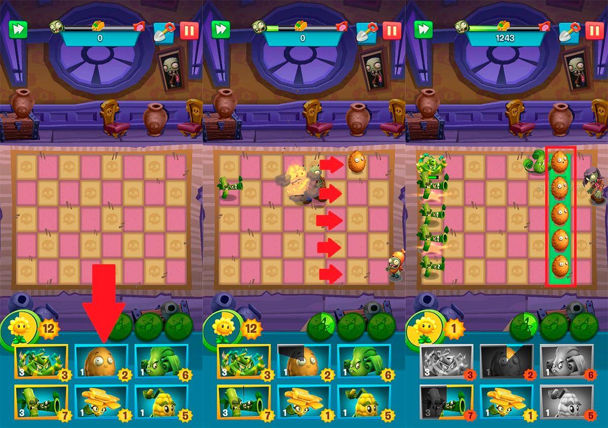 Usar plantas obstaculizadoras Plants vs Zombies 3