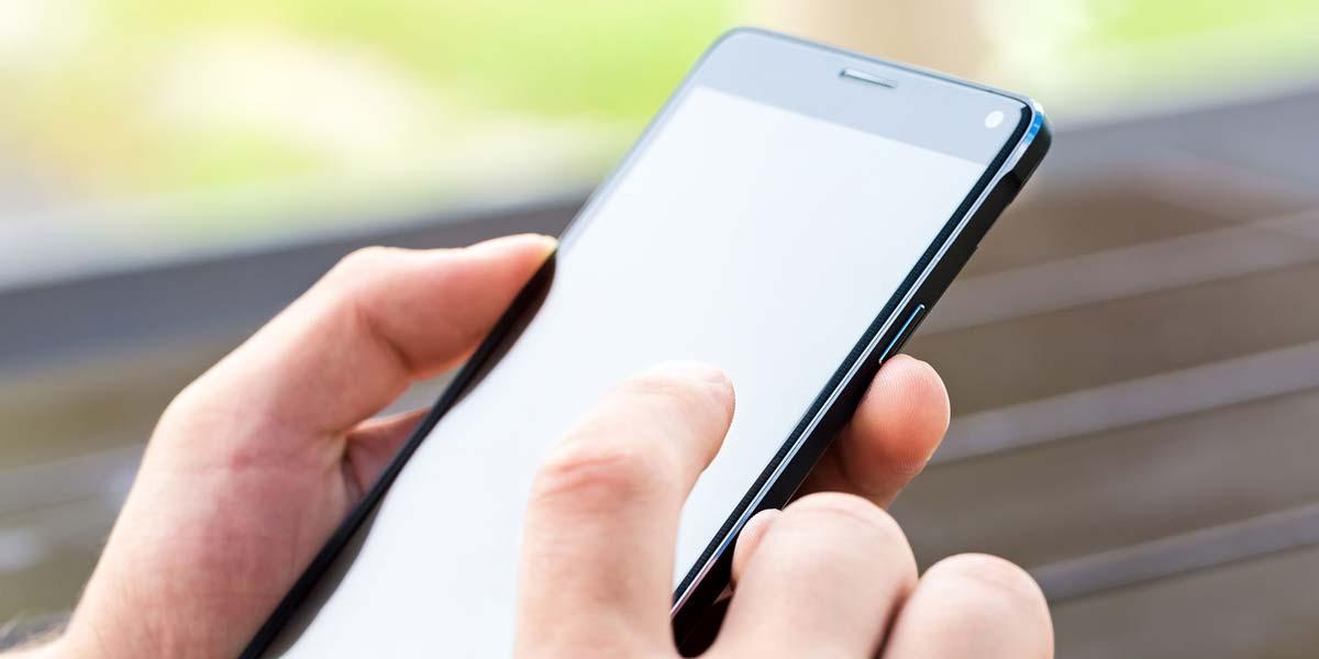 Uso de teclado en un teléfono Android
