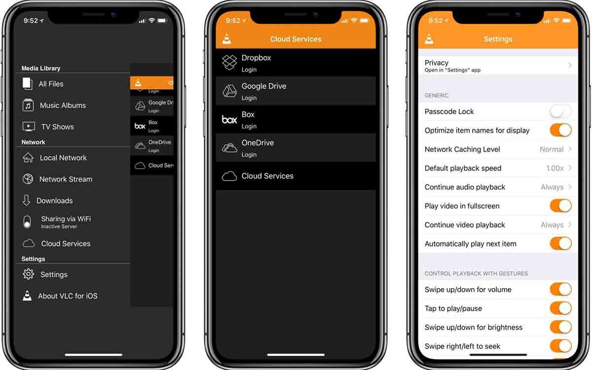 VLC app modo conducción
