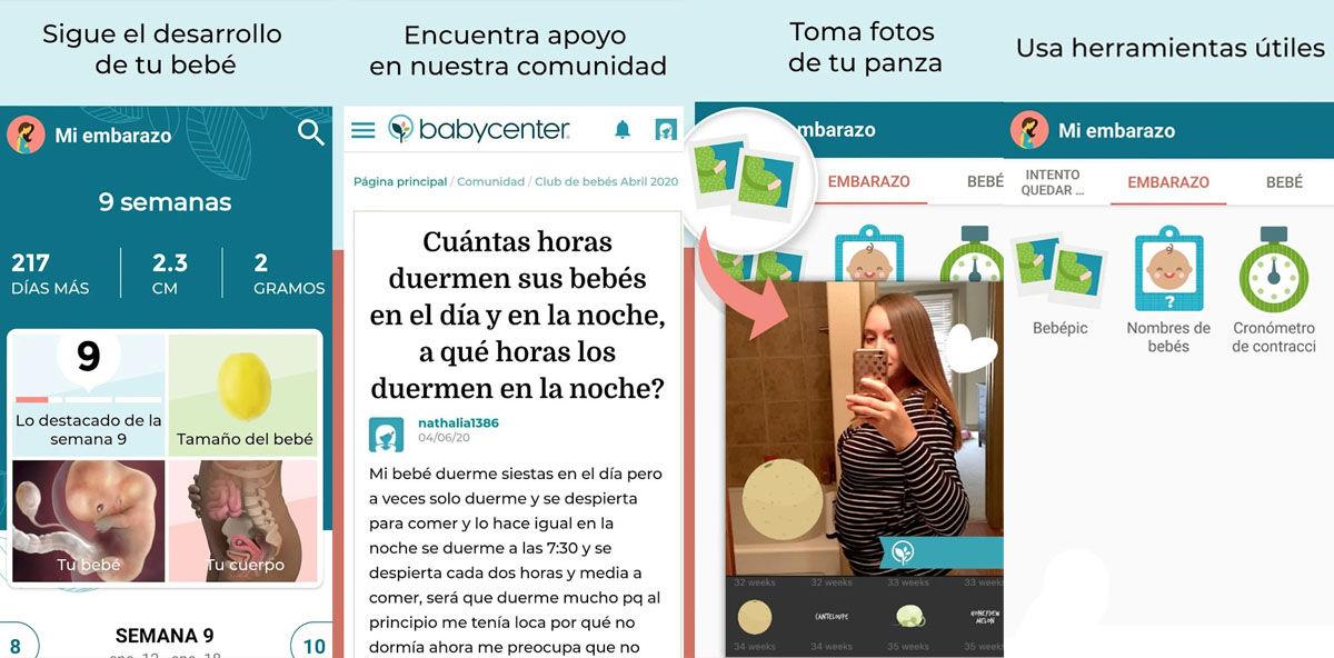 Ve guardando fotos de tu embarazo y de tu bebé en esta completa app