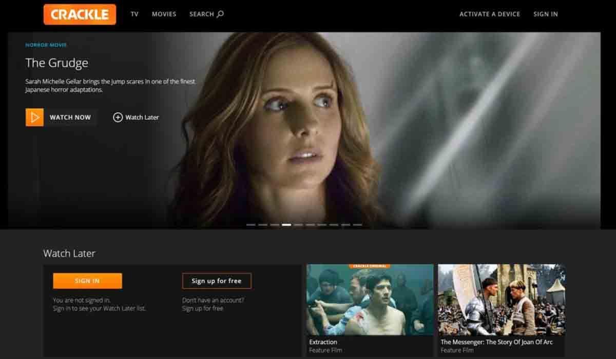 Ve películas y series gratis en España con Crackle