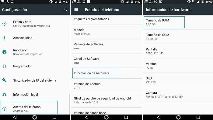 Ver RAM en Android