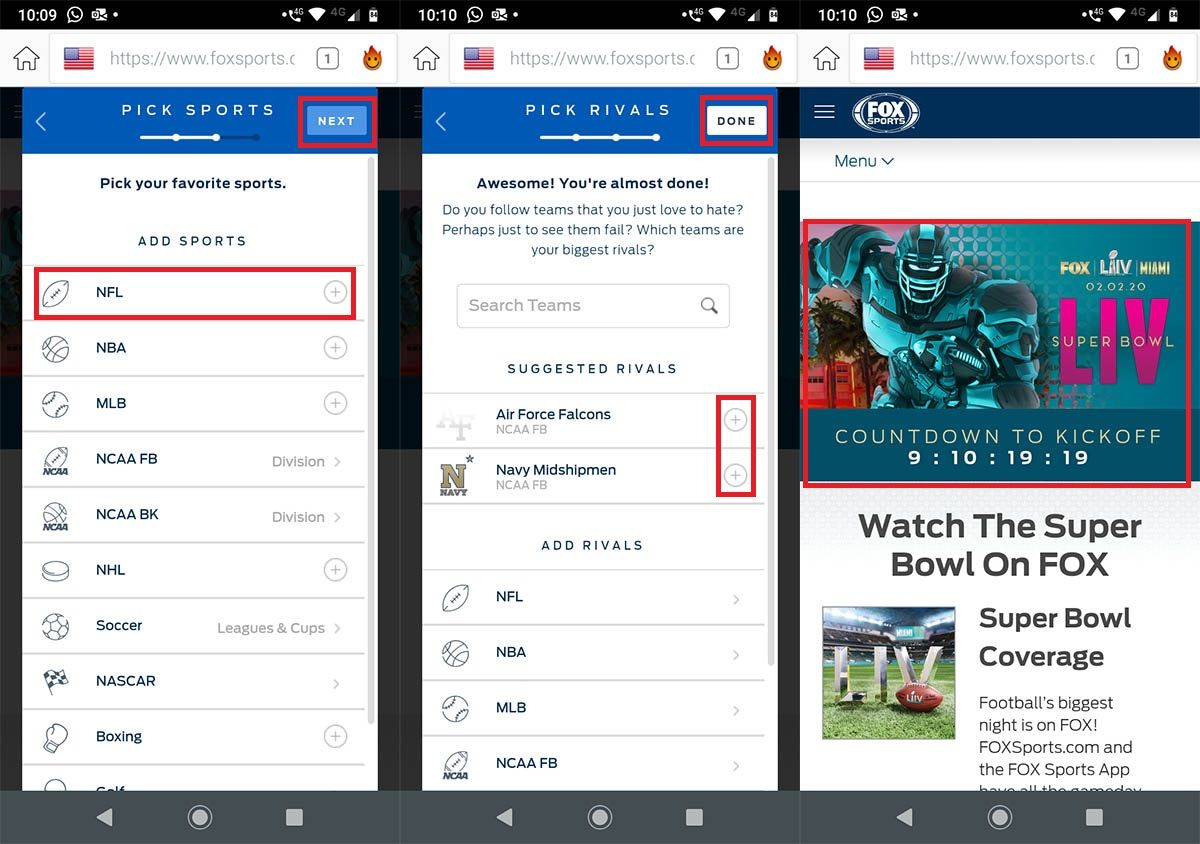 Ver Super Bowl 2020 online android