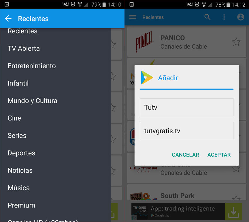 Ver TV gratis en Android sin virus
