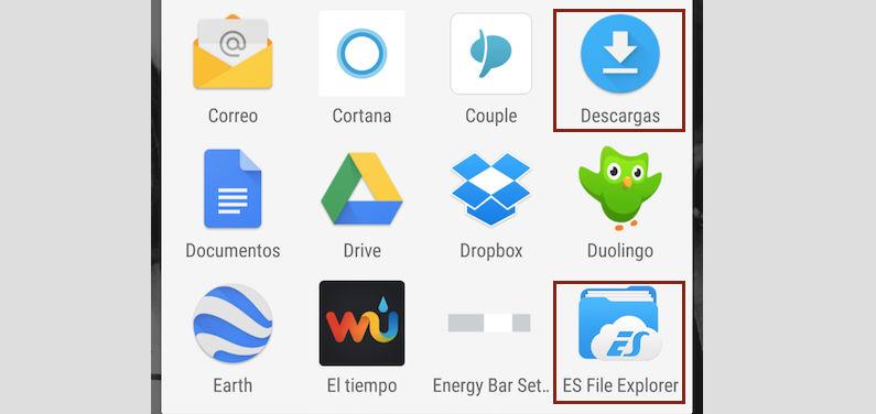 Ver archivos descargados en el Galaxy S6