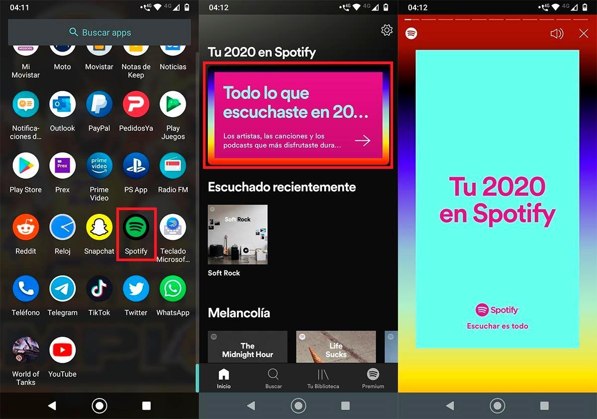 Ver canciones mas escuchadas Spotify 2020
