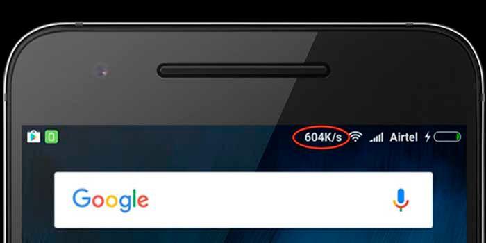 Ver la velocidad de internet en la barra de notificaciones de Android
