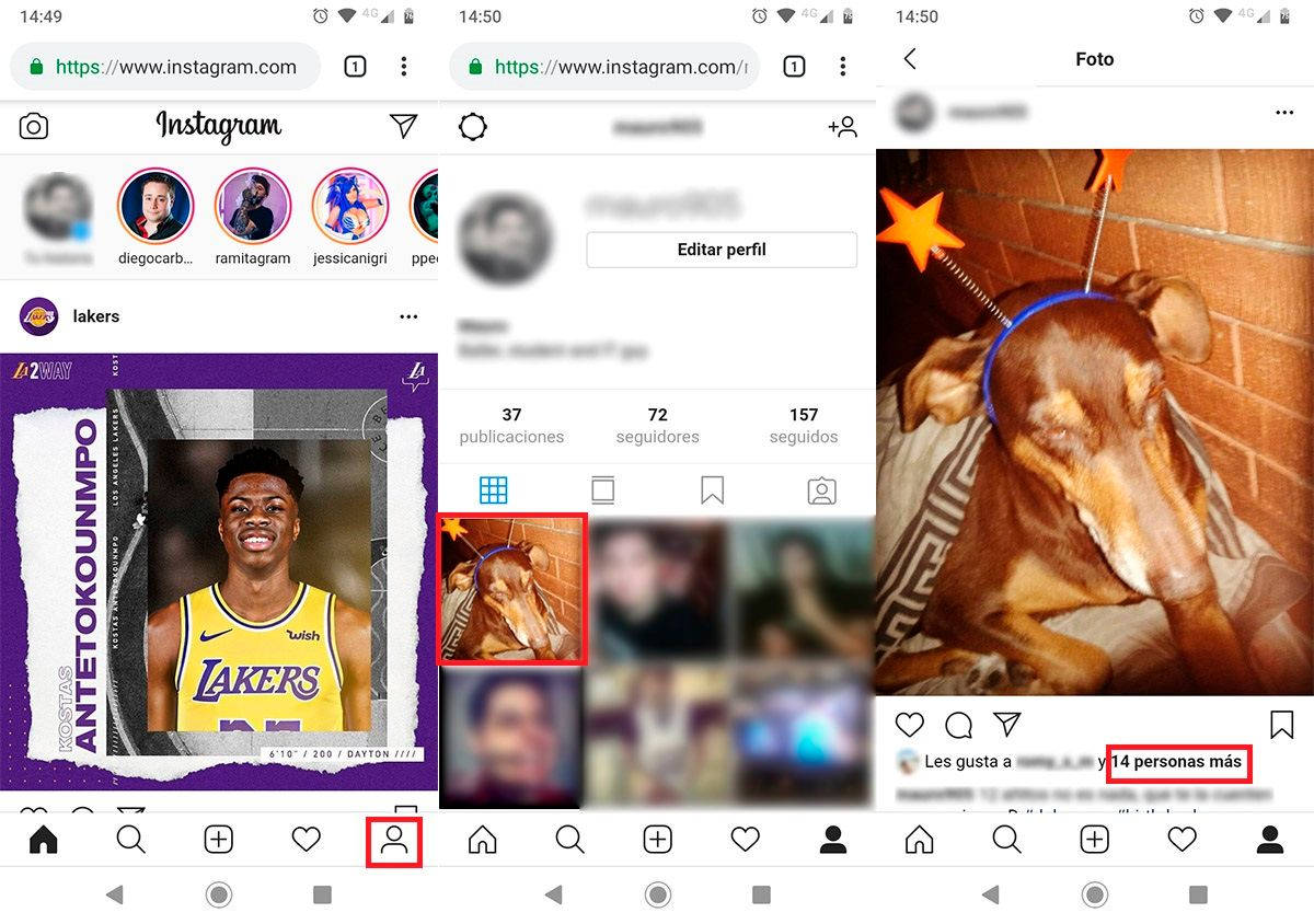 Ver likes ocultos Instagram paso 2