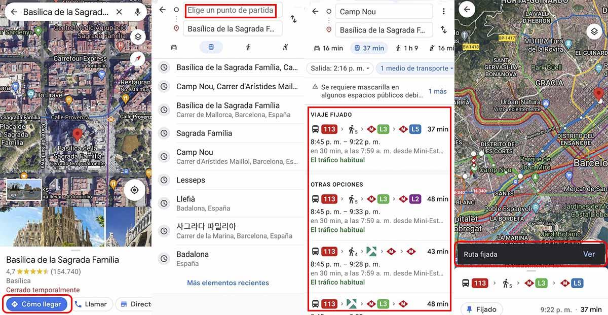 Ver los horarios de las estaciones del Metro de Barcelona que están cerca de tu ubicación