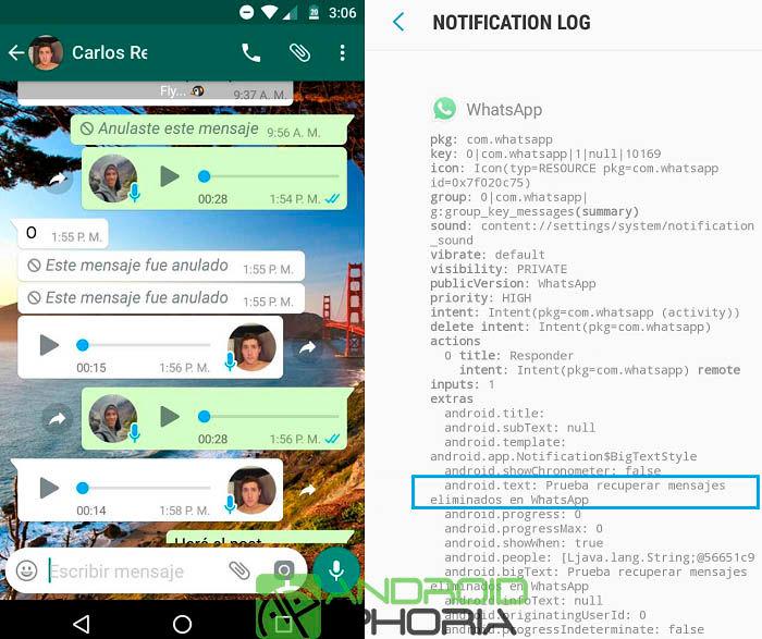 Usa las copias de seguridad de WhatsApp