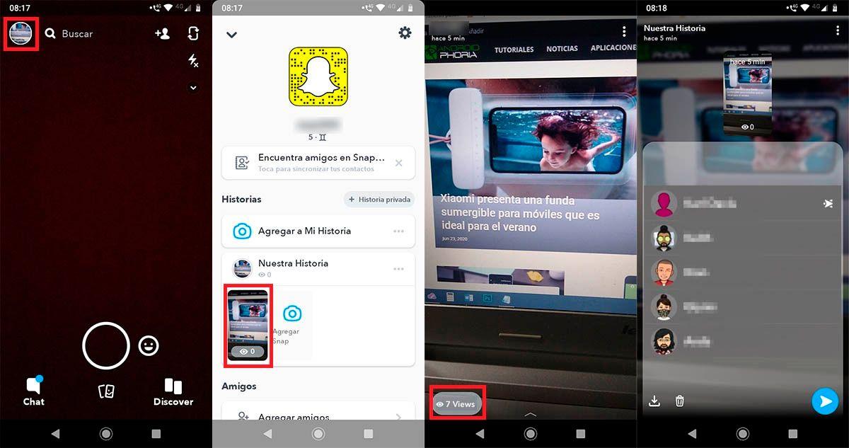 Ver quienes vieron mi Storie Snapchat