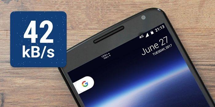 Ver velocidad Internet barra de notificaciones android