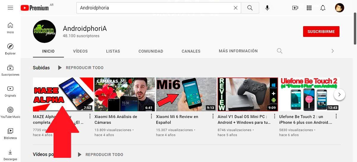 Ver video de YouTube en PC