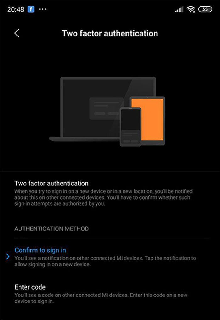 Verificacion dos pasos Mi Account Xiaomi