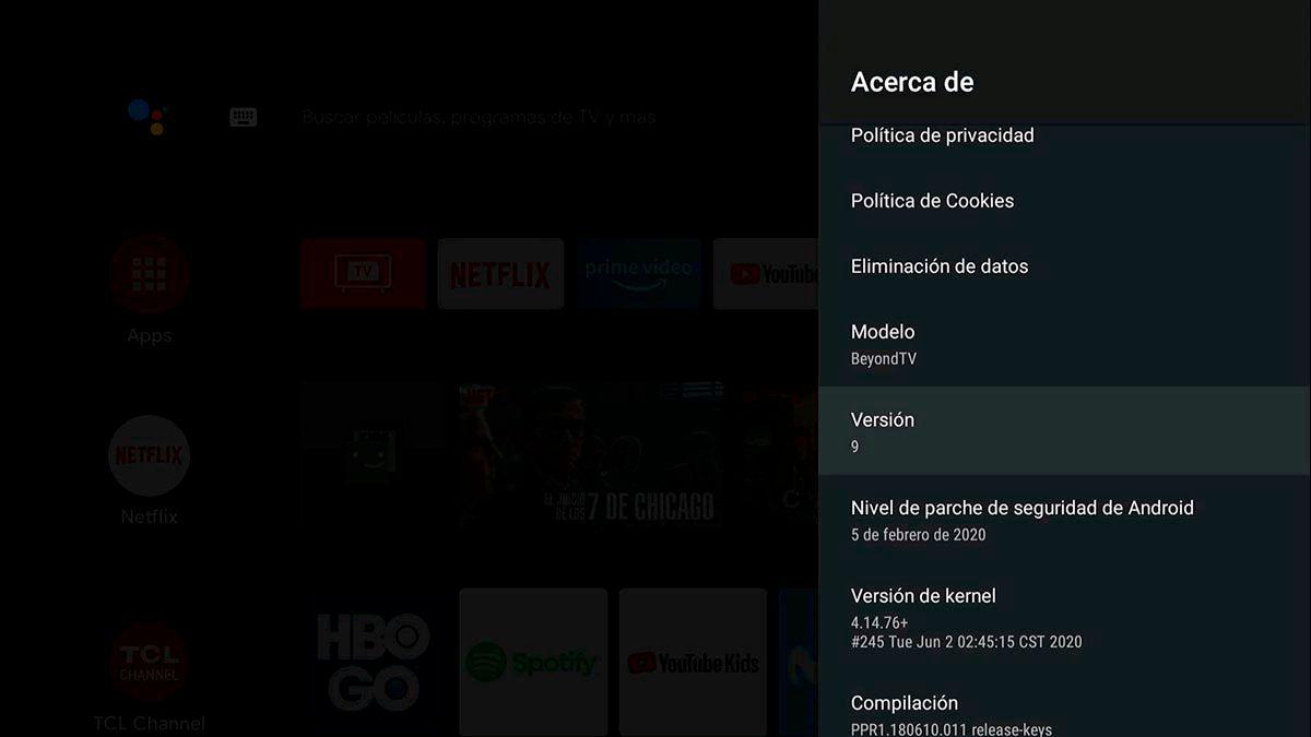 Version de Android TV