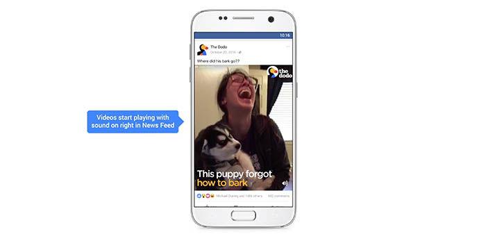 Videos con sonido en Facebook