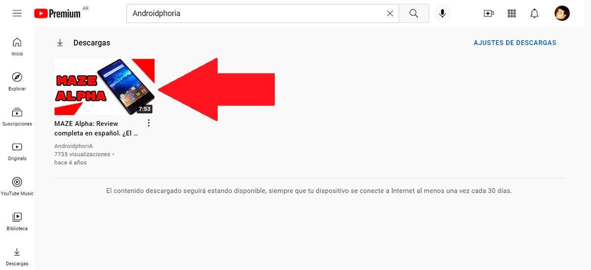 Videos descargados desde YouTube
