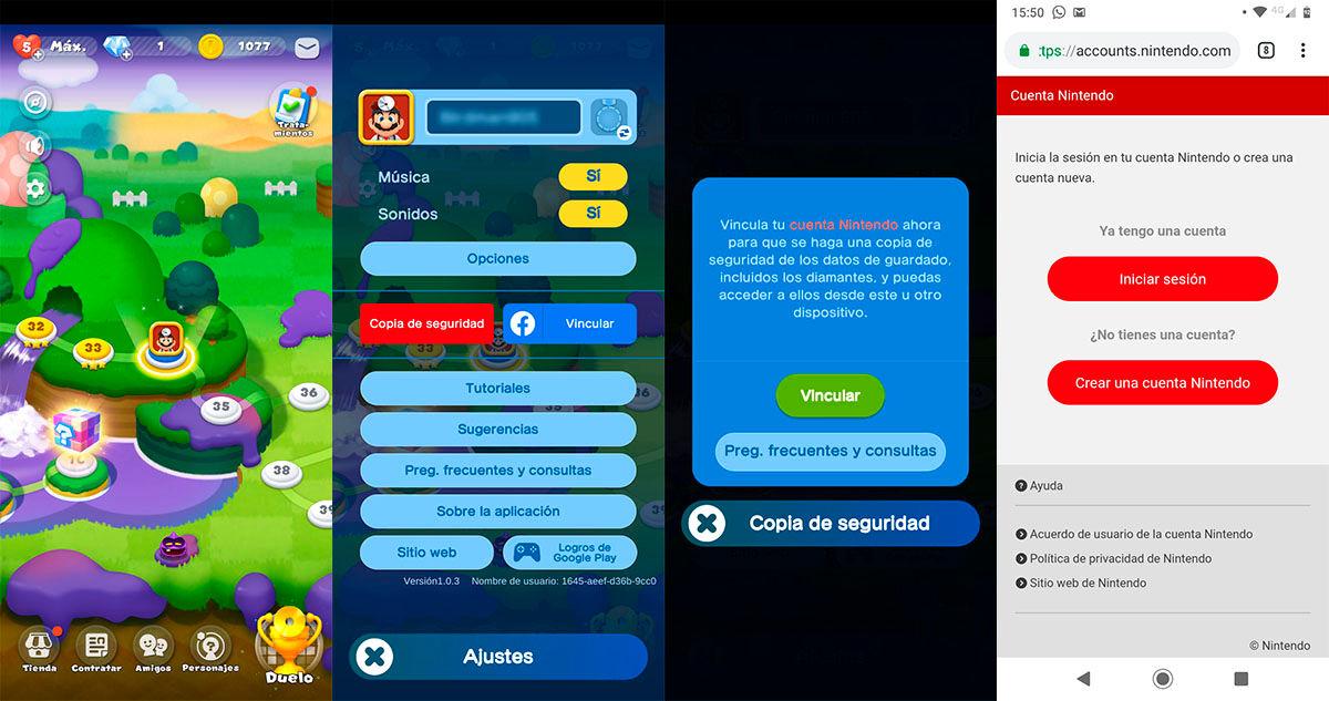 Vincular cuenta Nintendo Dr Mario World