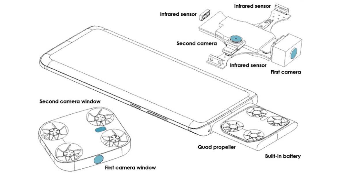 Vivo patente smartphone con camara voladora drone