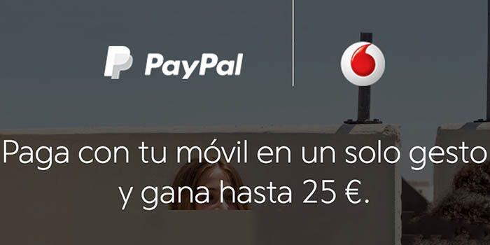 Vodafone Paypal promo 5 euros gratis