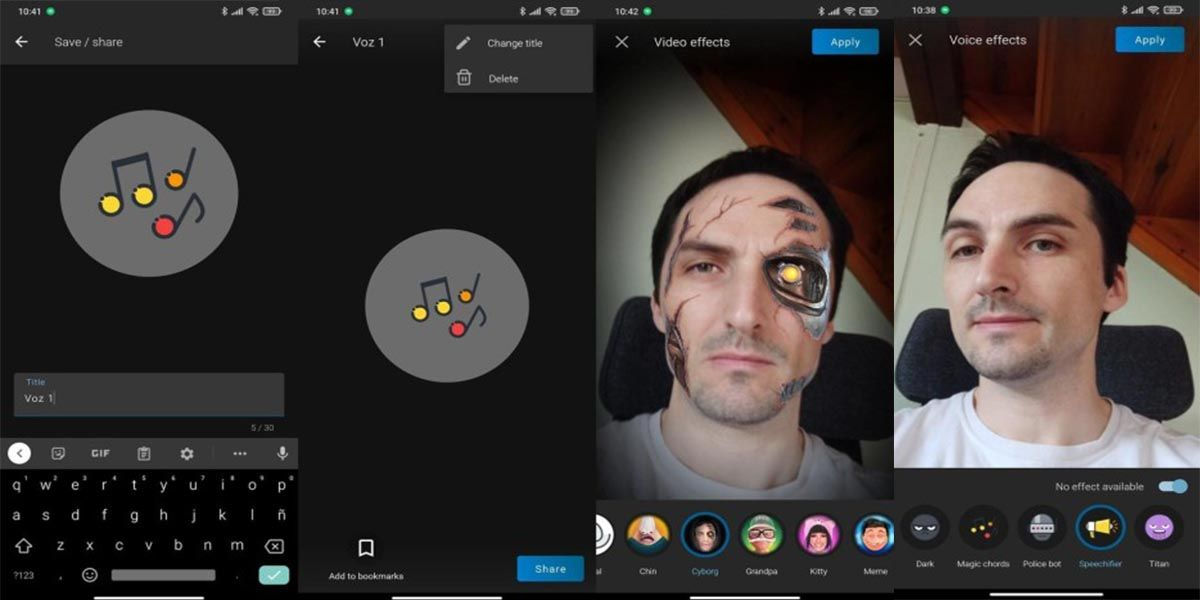 Voicemod Clips efectos de video