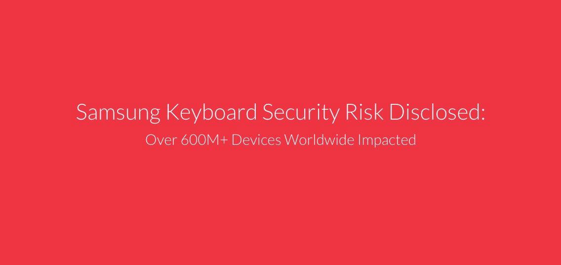 Vulnerabilidad en el teclado de Samsung
