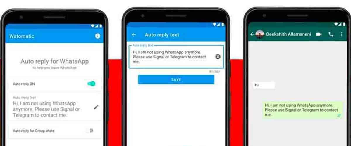 Watomatic mensajes automáticos Facebook WhatsApp