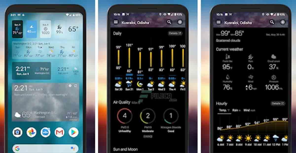 Weawow alarma de lluvia Android