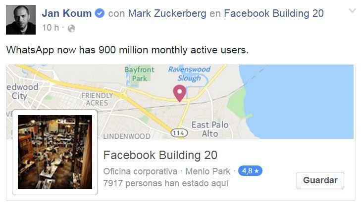 WhatsApp 900 millones usuarios activos