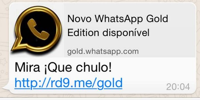 WhatsApp Gold estafa