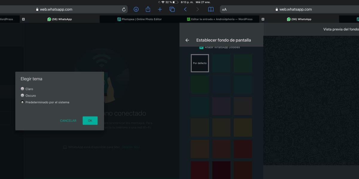 WhatsApp Web personalización