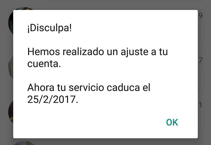 WhatsApp anula licencia de por vida