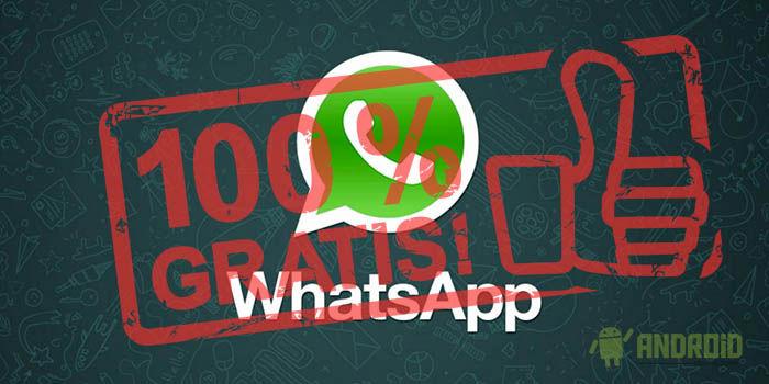 WhatsApp gratis para siempre
