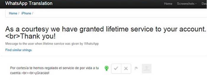 WhatsApp gratis para todos