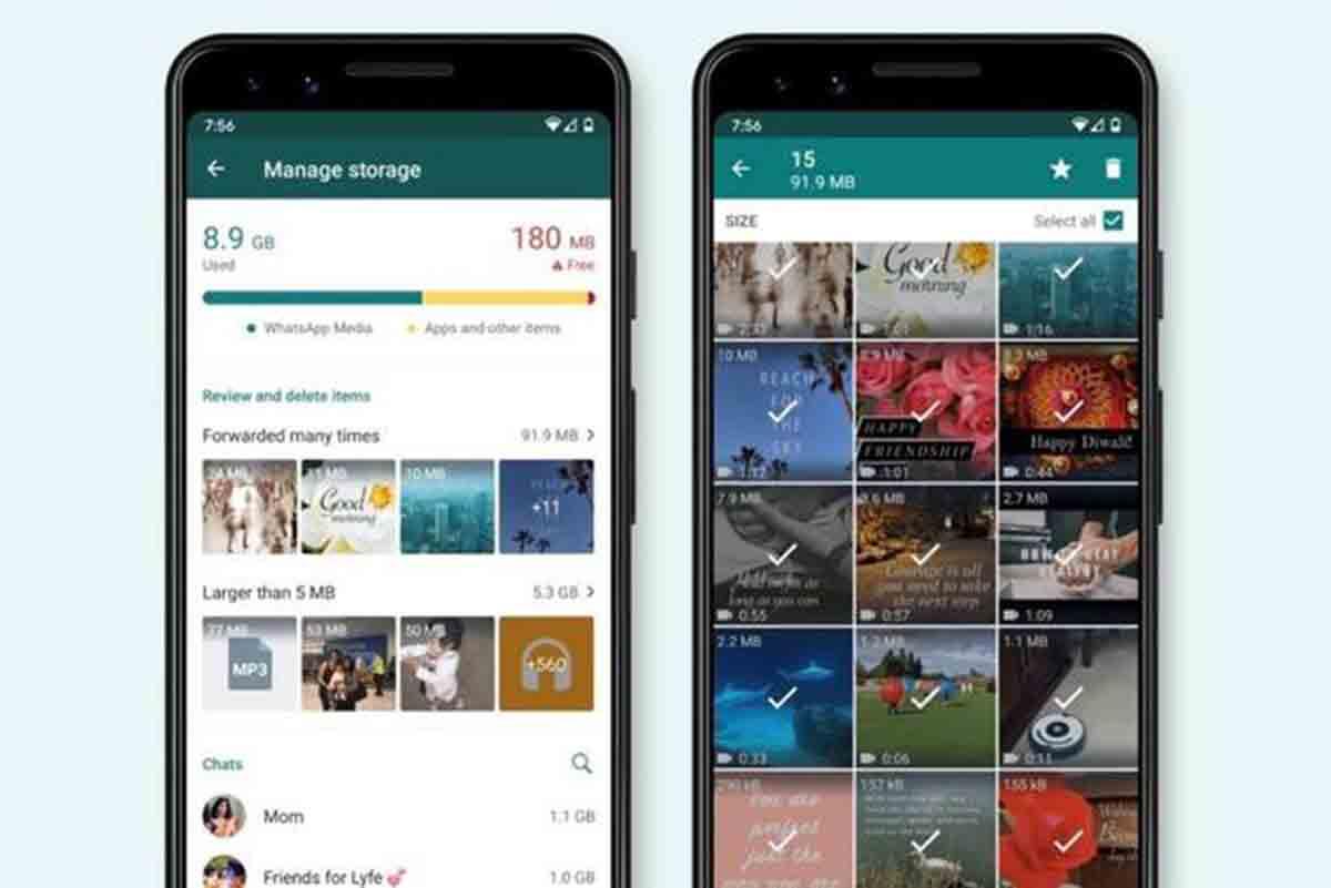 WhatsApp libera espacio en Android