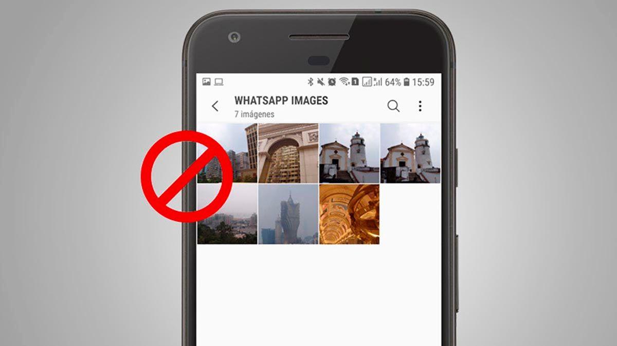 WhatsApp no almacena las fotos y los videos en la galeria del movil