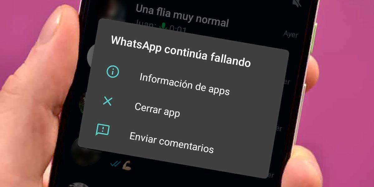 WhatsApp no me deja enviar mensajes en grupos