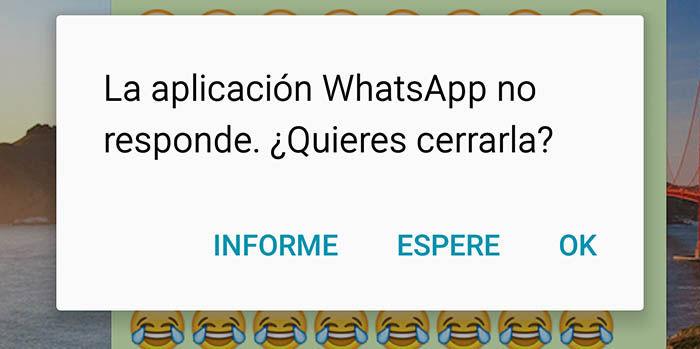 WhatsApp no responde
