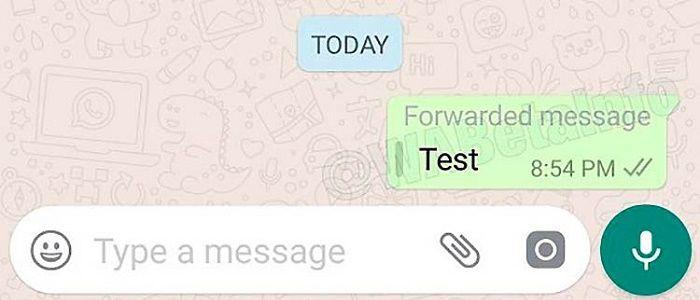 WhatsApp notificación de envío de mensajes