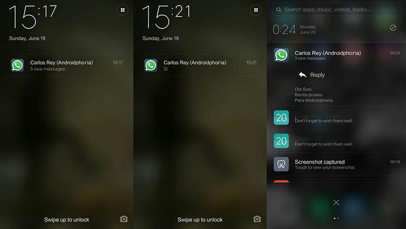 WhatsApp pantalla bloqueo Xiaomi MIUI