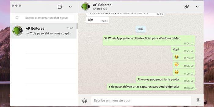 WhatsApp para Mac OS X