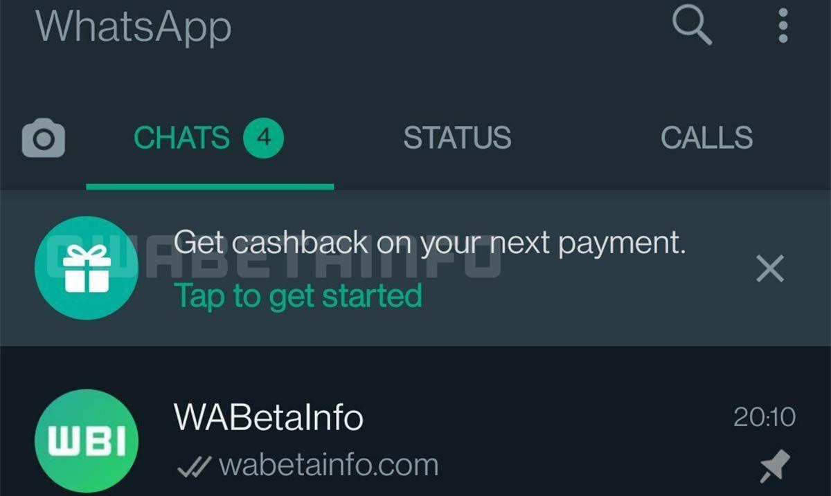 WhatsApp pedir cashback