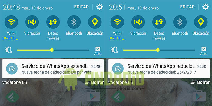 WhatsApp quita licencia de por vida