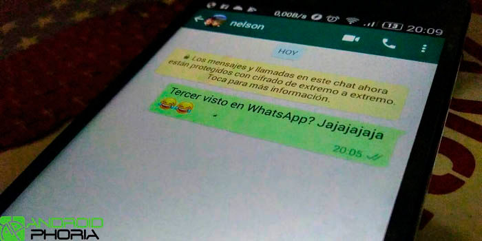 WhatsApp tercer visto falso