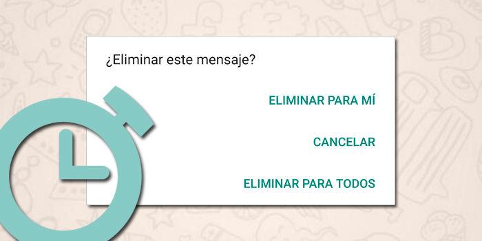 WhatsApp truco borrar mensajes despues 7 minutos