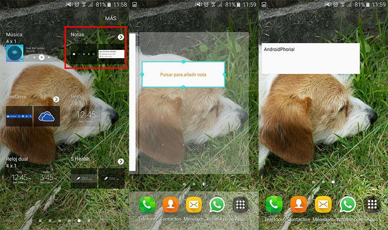 Widget Notas Galaxy S6