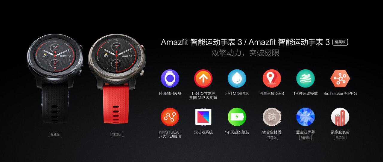 Xiaomi Amazfit Smart Sports Watch 3 apps